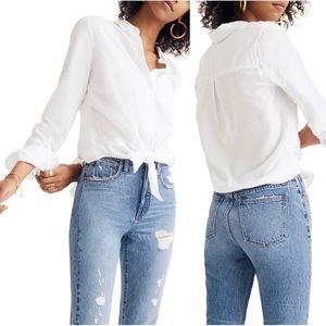 Madewell - Tie front shirt 100% cotton
